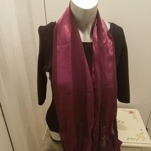 Maroon scarf sheer silk feel